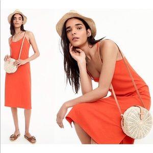 J. Crew Strappy Cotton Knit Midi Dress